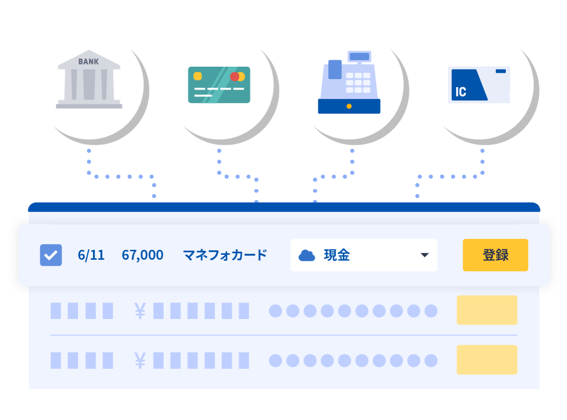 会計ソフト「マネーフォワード クラウド会計」なら銀行口座・カード明細も会計ソフトで自動取得できます