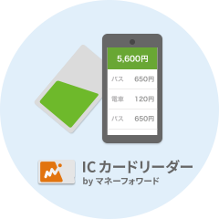 Suica、PASMOを読み取り